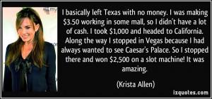 No Money Quotes Left texas with no money.