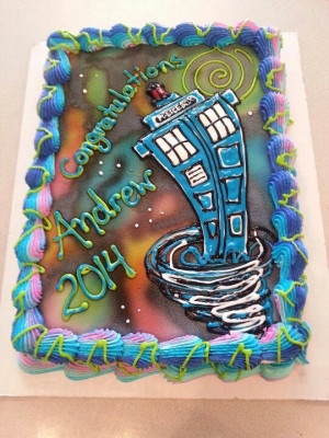 Dairy Queen Cake. Dr. Who . Tardis: Dairy Queen