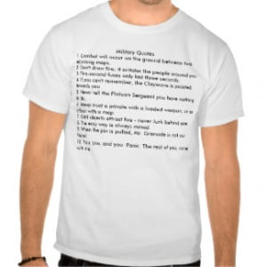 Military Quotes - Customized T Shirt