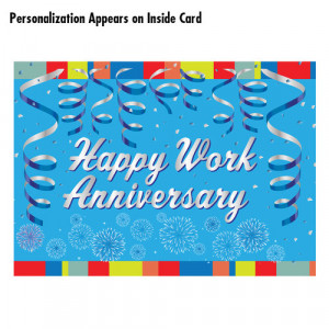 Home Employee Appreciation Gifts Happy Work Anniversary Greeting Card ...