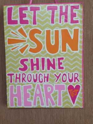 Cute quote canvas painting!