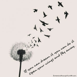 birds, dandelion, dream, fly, flyaway, free, life, photography, quotes ...
