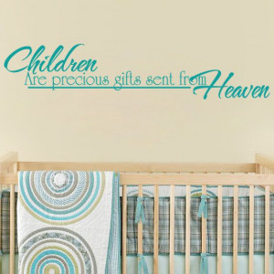 Nursery Wall Quote For Baby Girl Or Boy Nursery - Children Are ...