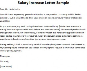 salary increase letter sample, salary increase letter template