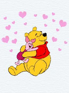 ... winnie the pooh Love 240x320 wallpaper240X320 wallpaper screensaver