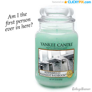 The first weird candle scents are totally fake from CollegeHumor.com