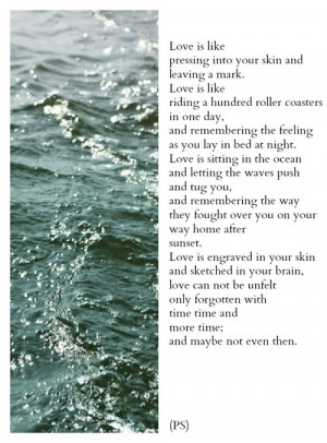 love mine quotes writing water ocean poetry poems rollercoasters Photo ...