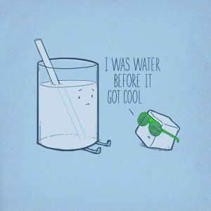 Funny photos funny hipster ice cube cool water