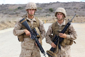 Marine Brothers Are step brothers and both