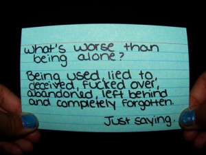rather be alone.