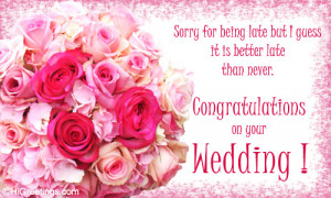 belated card to wish the married couple. Send this Belated Wishes ...
