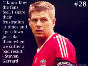Steven Gerrard quote on fans