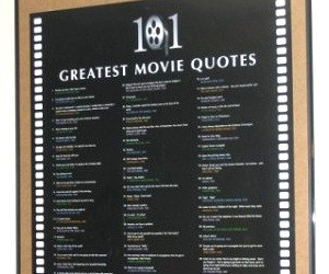 101 Greatest Movie Quotes List Art Poster Print