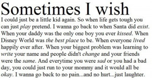 sad growing up quotes
