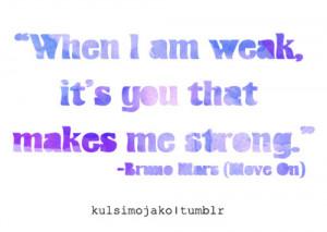 bruno mars, lyrics, move on, quote, typography, violet, word art