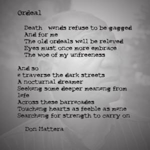 Don Mattera Poem - Ordeal: Mattera Poems