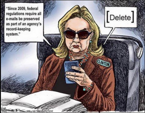 "... favorite cartoons where Hurricane ""Deleter"" Hillary is the focus"