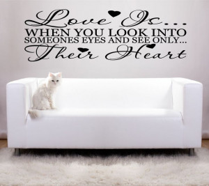 Sayings wall decals | Love Romantic Vinyl Art Wall Stickers Quotes ...