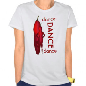 Funny Hot Pepper Woman Dance Ladies White T-Shirt