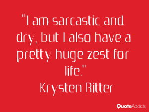 krysten ritter quotes i am sarcastic and dry but i also have a pretty