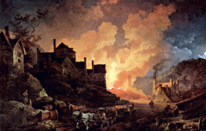 Coalbrookdale by Night, an 1801 painting by Philipp Jakob Loutherbourg ...