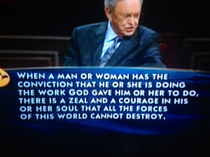 Charles Stanley! :) this sermon spoke volumes to my heart.