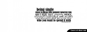 Being Single Quote Facebook Cover