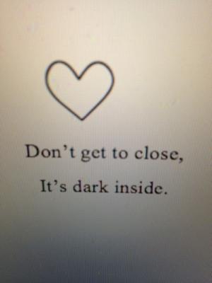 depression sad suicidal suicide music quotes pain alone broken dark ...