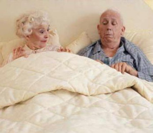 After nearly 50 years of marriage, a couple was lying in bed one ...
