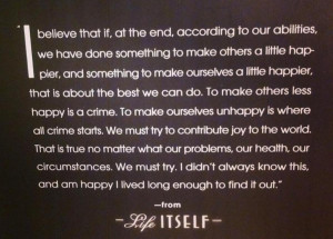 SCOTT JORDAN HARRIS: These words are on the back of Roger's ...