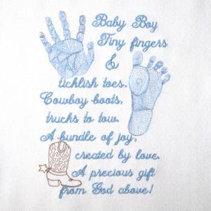 Baby Boy Poems Baby boy prints & poem