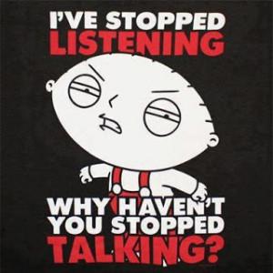 not listening funny facebook quote