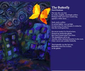 The Butterfly / Pavel Friedman. Artwork: Liz Elsby