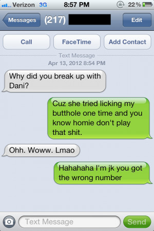 Wrong number Funny Quote image