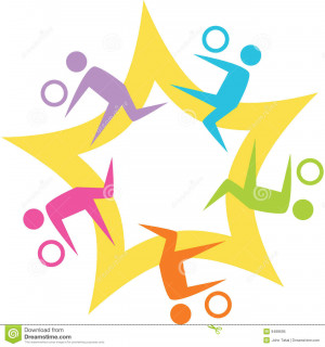 More similar stock images of ` Teamwork Volleyball Starburst `