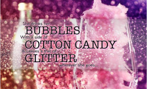 Cute saying, glittery cotton candy drink. Gourmet cotton candy ...
