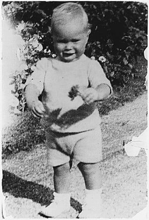Young George H. W. Bush taking his first steps at his grandfather's ...