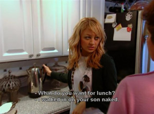 caption, funny, kitchen, naked, nicole richie, quote, reality, simple ...