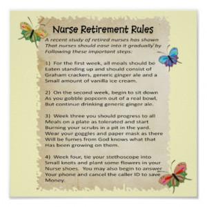 hilarious_nurse_retirement_rules_poster_12x12 ...