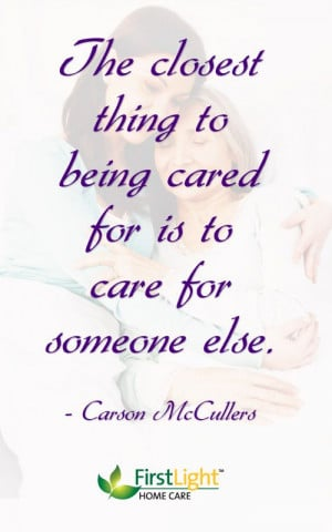 The closest thing to being cared for