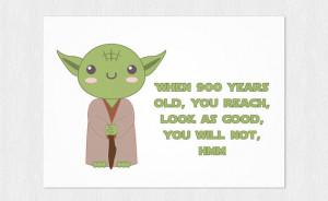 PDF DIY - Happy Birthday - Yoda quote