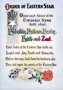 Antique Order of the Eastern Star poem print ring art poster OES ...