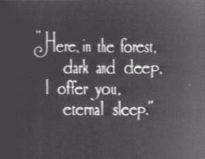 dark, deep, eternal, forest, here, offer, poetry, quotes, rhyme, sleep ...