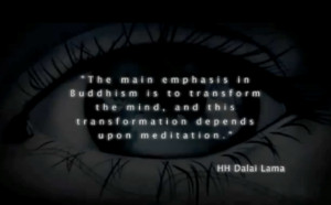 ... transform the mind. And this transformation depends upon meditation