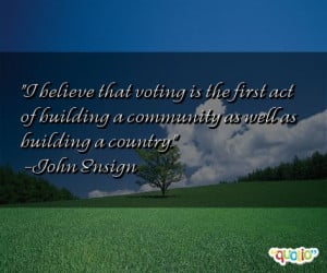 believe that voting is the first