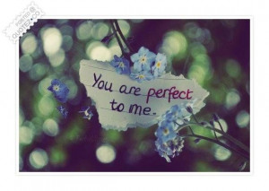 You are perfect to me quote