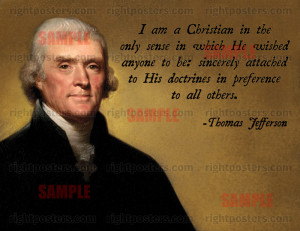Thomas Jefferson Christian Quote Poster