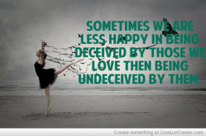 Being Deceived