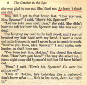 A moment of revelation in jd salingers the catcher in the rye