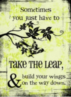 ve made that leap before - kind of scary, yet exhilarating!